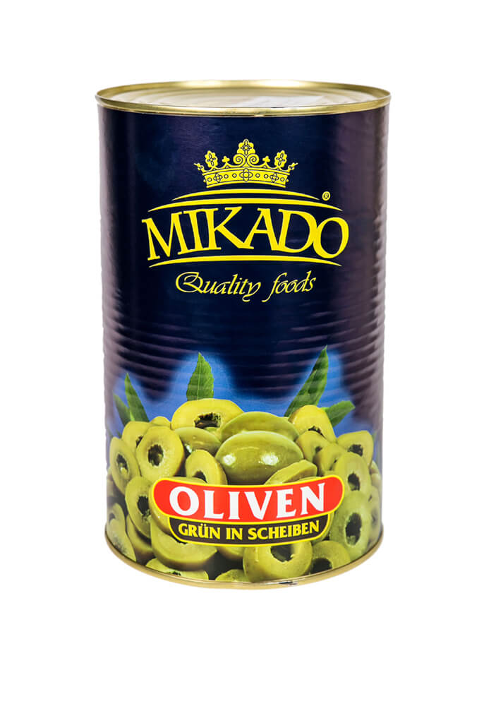 Green olives slices 4100g