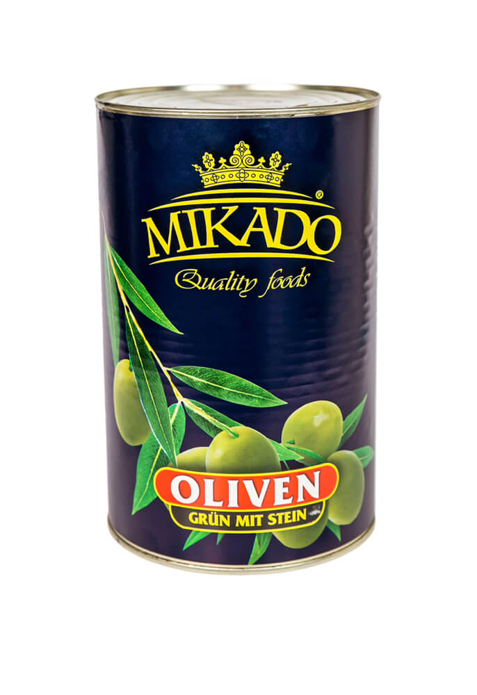 Green olives wholes 4100g